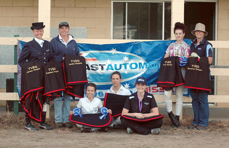 The champions from the Tweed Valley Dressage Associate Championships 2013