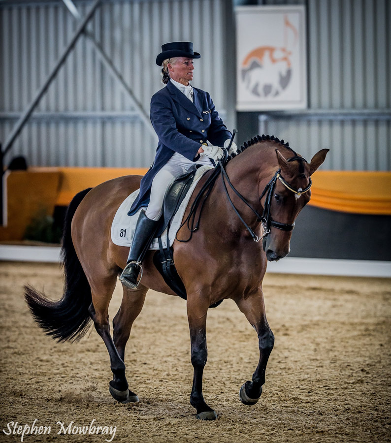 CC and Sally Evans at ThinLine Dressage with Altitude International event at Orange