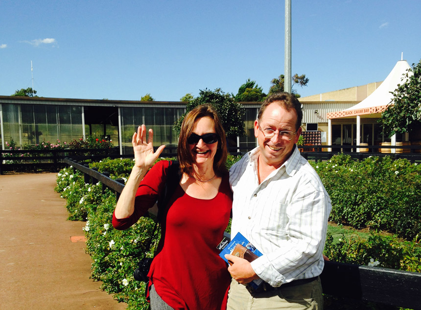 Iris and Peter at Inglis Thoroughbred Sales at Oaklands, March 2015